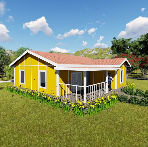 Yellow House Prefab Home
