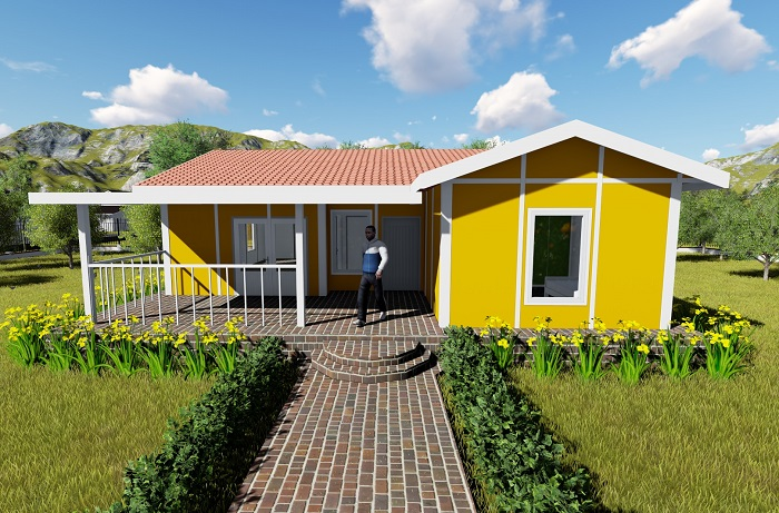 Yellow House prefab house