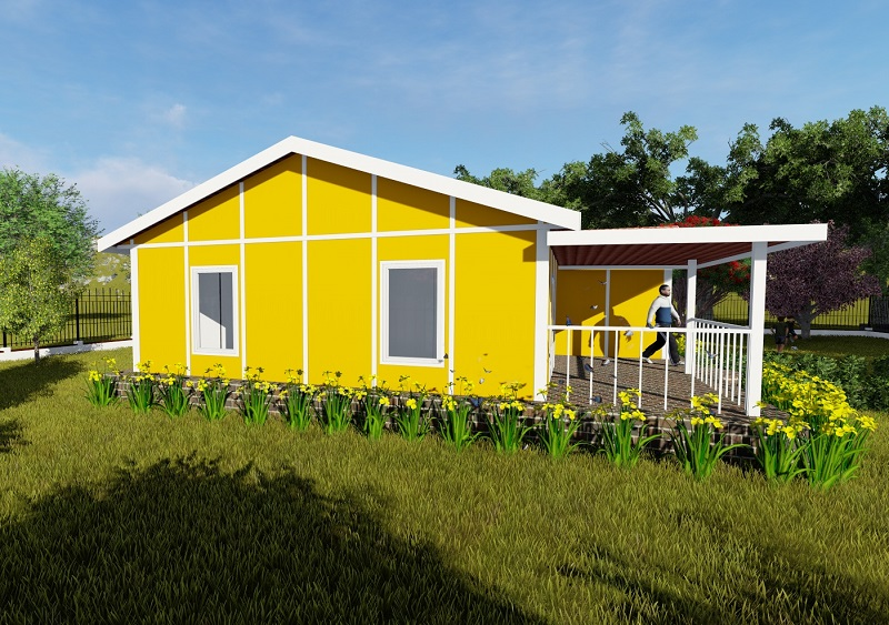 yellow house prefab